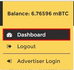 btcclicks dashboard