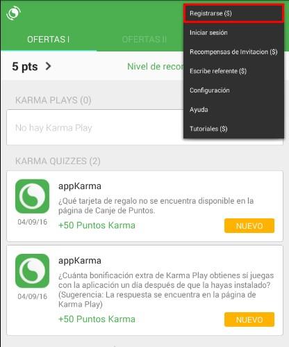 appkarma registrarse