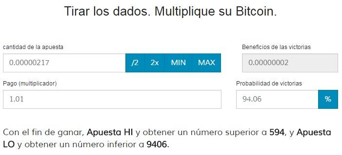 bitcoinlatinos tirar dados