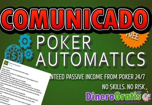 pokerautomatics comunicado