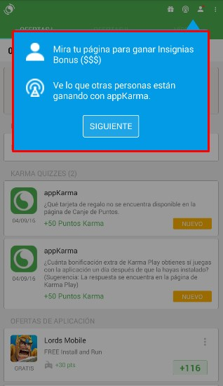 appkarma perfil