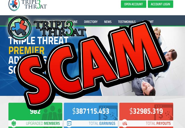 triplethr3at scam