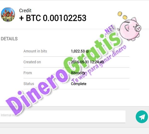3° Pago bitcocity 1.06$