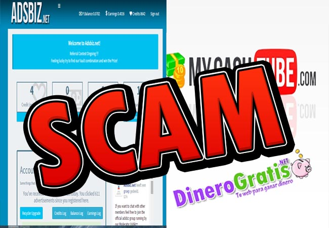 adsbiz y mycashtube scam