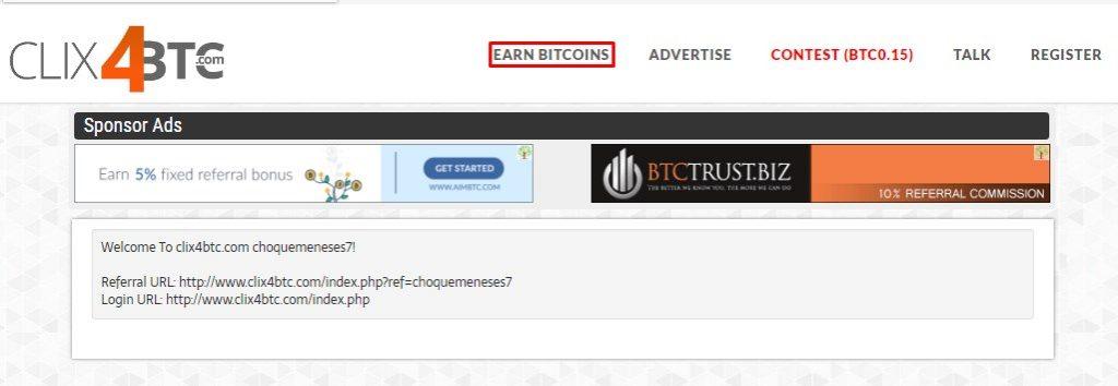clix4btc ganar bitcoins