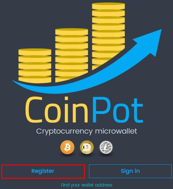 coinpot registrarse
