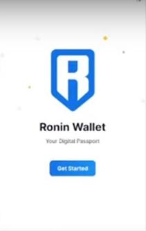 Iniciar en Ronin Wallet