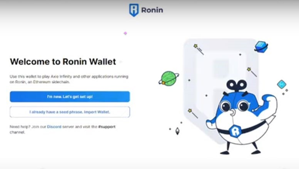 Crear Cuenta en Ronin Wallet