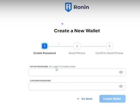 Ingresar Contraseña Ronin Wallet