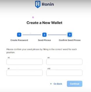 Verificar Frases Ronin Wallet